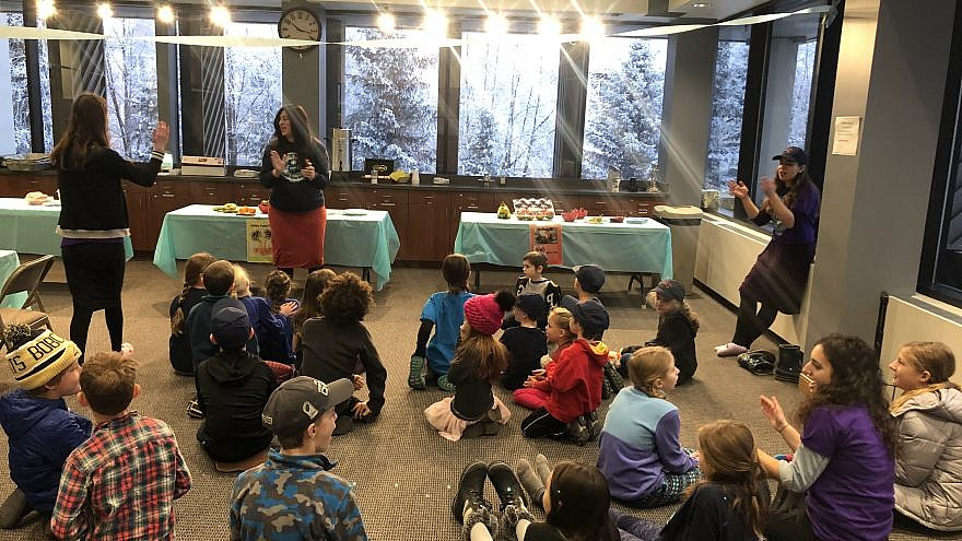 Children take part in a one-day camp held by Alaska Jewish Campus, which introduced the Jewish Camp Gan Israel adventure over the Martin Luther King Jr. and Presidents' Day holidays in Anchorage. Credit: Gan Izzy Alaska In-Service Day Winter Camps 2019.