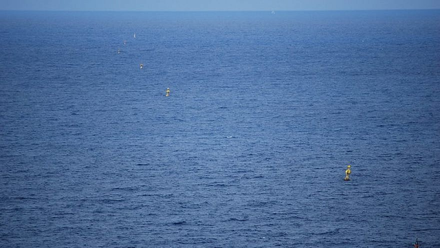 Buoys designating Israel-Lebanon maritime borders. Credit: Chadica/Flickr.