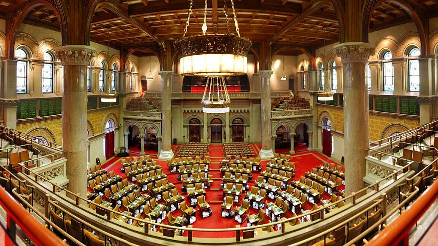 New York State Assembly Chamber in the State Capitol in Albany, N.Y. Credit: wadester16/Flickr.