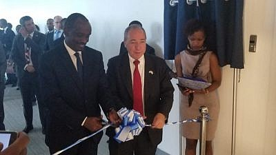 Cutting the ribbon for the Israeli embassy in Rwanda. Credit: Presidency of Rwanda.