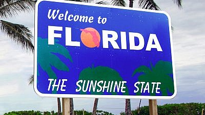 Entry sign to the state of Florida. Credit: Flickr.