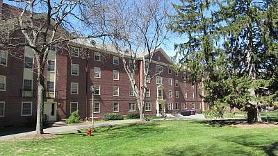 Baker Hall at the University of Massachusetts in Amherst. Credit: John Phelan via Wikimedia Commons.