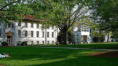 The main quad on Emory University's primary Druid Hills Campus in Atlanta, including the Michael C. Carlos Museum at right. Credit: Wikimedia Commons.