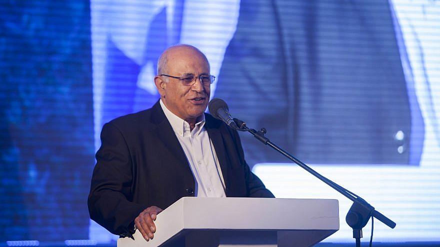 Avigdor Kahalani speaks at the Moskowitz Prize for Zionism ceremony in Jerusalem. May 29, 2014. Photo by Yonatan Sindel/Flash90.