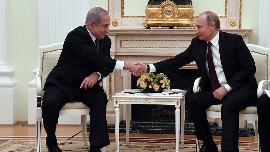 Israeli Prime Minister Benjamin Netanyahu with Russian President Vladimir Putin at the Kremlin in Moscow, Russia, on Feb. 27, 2019. Credit:  Haim Zach/GPO.