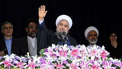 Iranian President Hassan Rouhani during a visit to Semnan Province, Iran, on April, 17, 2016. Photo: Mohammad Reza Meysami via Wikimedia Commons.