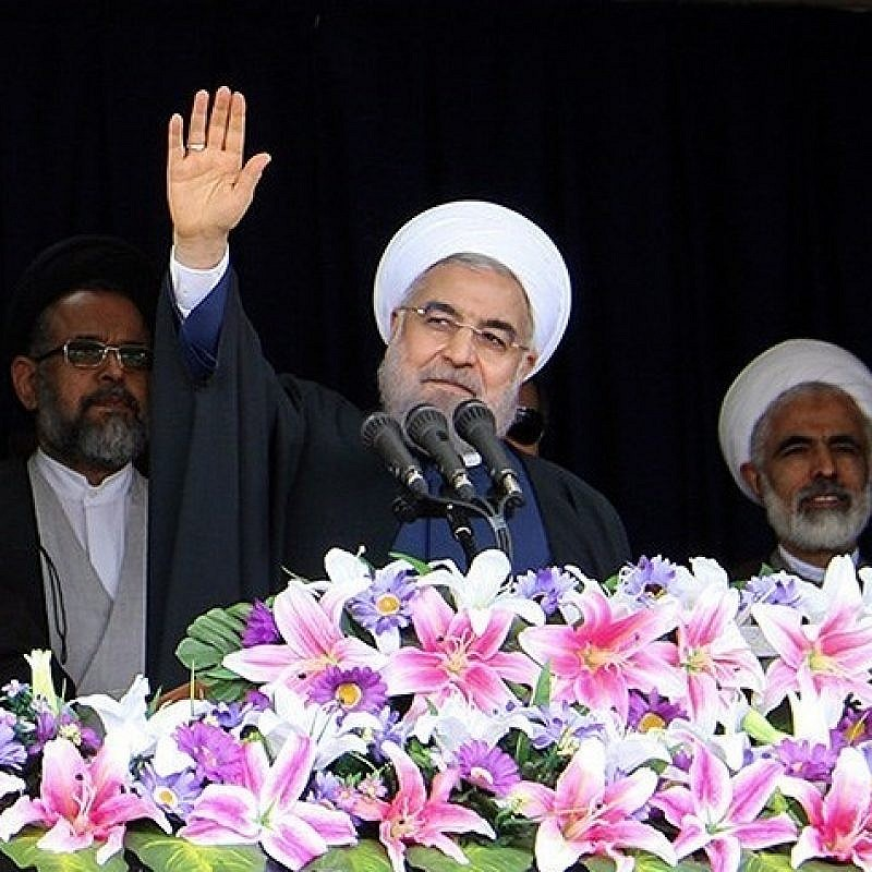 Iranian President Hassan Rouhani during a visit of Semnan Province on April, 17, 2016. Credit: Mohammad Reza Meysami via Wikimedia Commons.