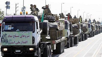 An Islamic Revolutionary Guards Corps' parade in Tehran on Sept. 21, 2012. Photo: Mohammad Sadegh Heydari via Wikimedia Commons.
