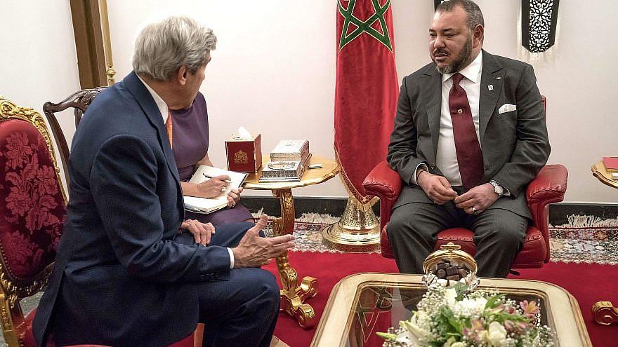 Former U.S. Secretary of State John Kerry with Morocco's King Mohammed VI in Marrakesh on Nov. 16, 2016. Photo: U.S. Embassy Rabat via Wikimedia Commons.