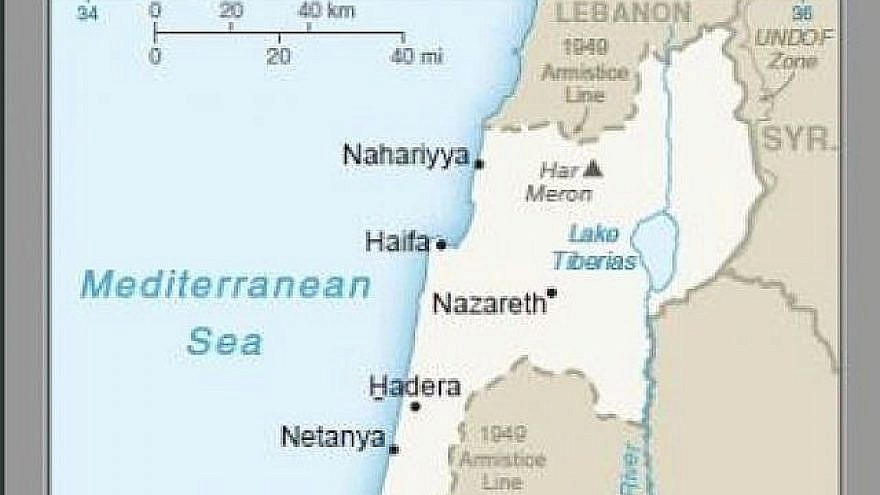 Part of a map published by the U.S. on Tuesday that shows the Golan Heights as Israeli territory | Photo: Twitter