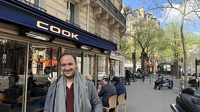 Michael Amsalem, a new immigrant to Israel, visits Paris for a wedding in the 7th arrondissement of Paris. Credit: Orit Arfa.