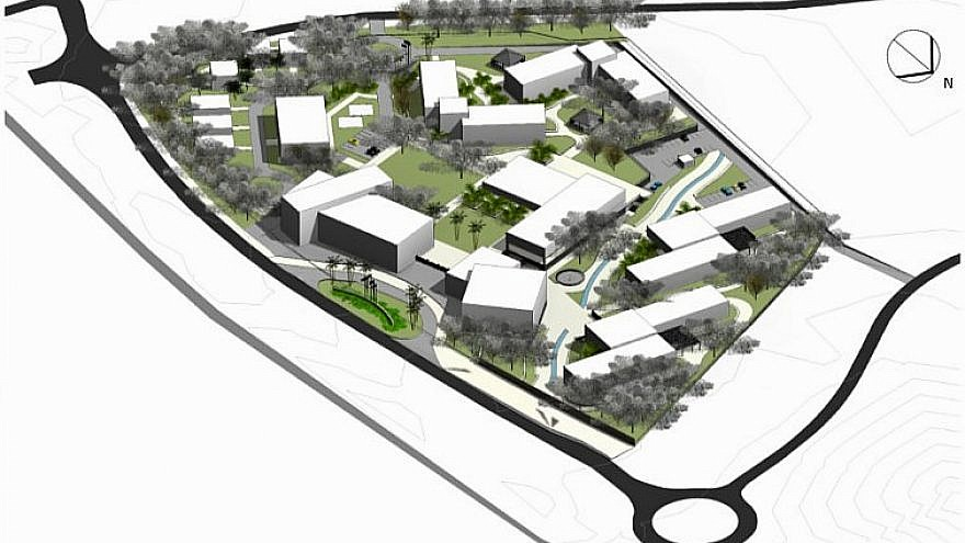 Blueprint for the 16-acre site of the new JNF Israel Education and Technology Center. Credit: JNF-USA.