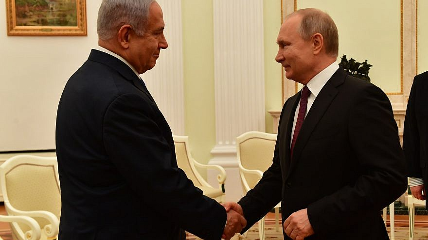 Israeli Prime Minister Benjamin Netanyahu and Russian President Vladimir Putin in Moscow on April 4, 2019. Credit: Kobi Gideon/GPO.