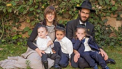 Rabbi Shmuel and Chaya Notik, and family. Credit: Facebook.