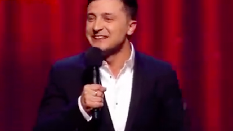 Ukranian Jewish comedian Volodymyr Zelenskiy. Credit: Screenshot.