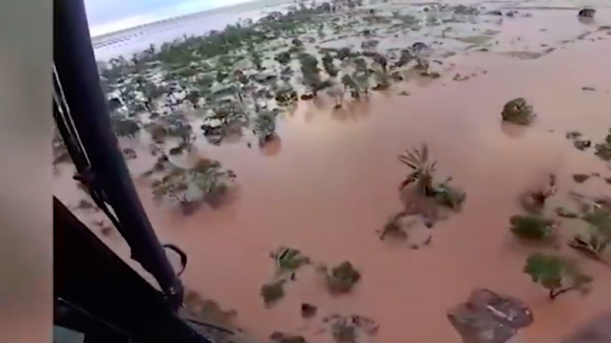 Cyclone Idai killed at least 746 people and displaced at least 141,000 others in Mozambique. Credit: Screenshot.