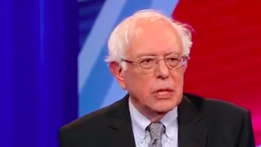 Sen. Bernie Sanders (I-Vt.), who is running for the Democratic nomination for president in 2020, answers a question about Israeli Prime Minister Benjamin Netanyahu during a CNN town hall on April 22, 2019. Credit: Screenshot.