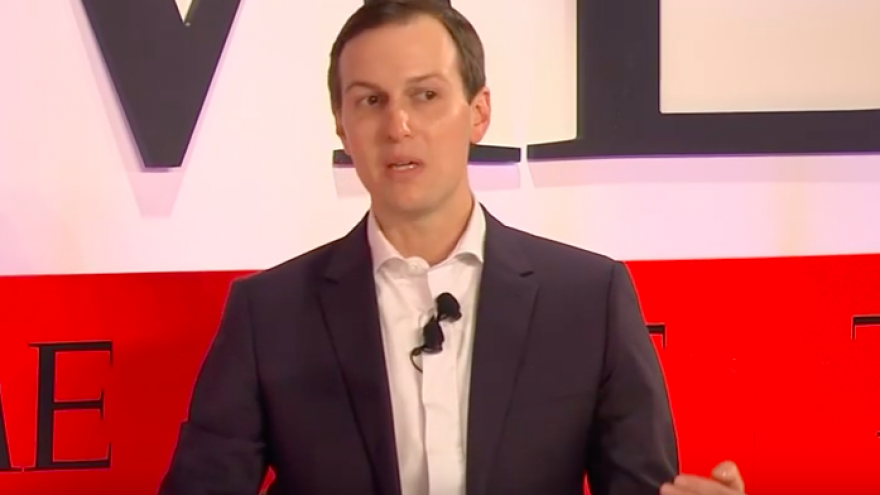 Jared Kushner, White House senior adviser and son-in-law of U.S. President Donald Trump, speaking at the 2019 TIME 100 Summit on April 23, 2019. Credit: Screenshot.