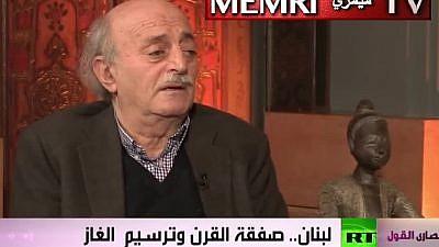 Lebanese Druze leader Walid Jumblatt. (MEMRI)
