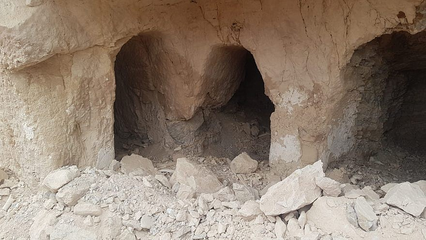 Ancient burial caves on the outskirts of Jericho, dating back to the Second Temple period. Photo by Yedidya Neeman.