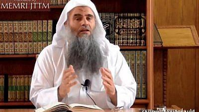 Jordan-based jihadi ideologue Abu Qatadah Al-Falastini. Credit: MEMRI.