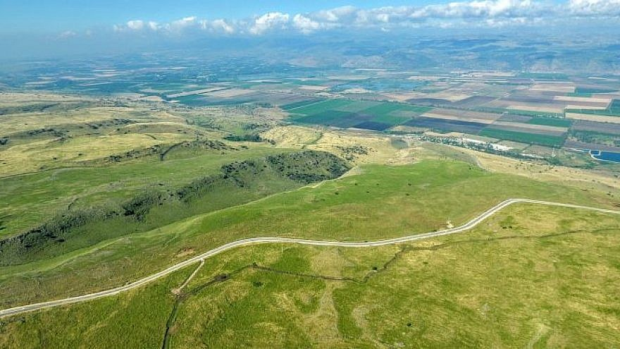 "The area in the Golan Heights designated for ""Trump Heights."" Credit: Golan Regional Council."