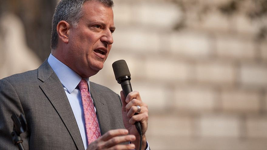 New York City Mayor Bill de Blasio. Credit: Kevin Case via Flickr.
