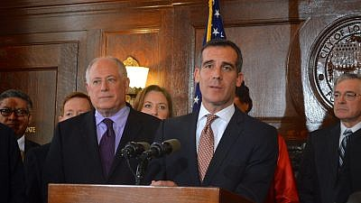 Then-Illinois Gov. Pat Quinn and Los Angeles Mayor Eric Garcetti. Credit: Flickr.