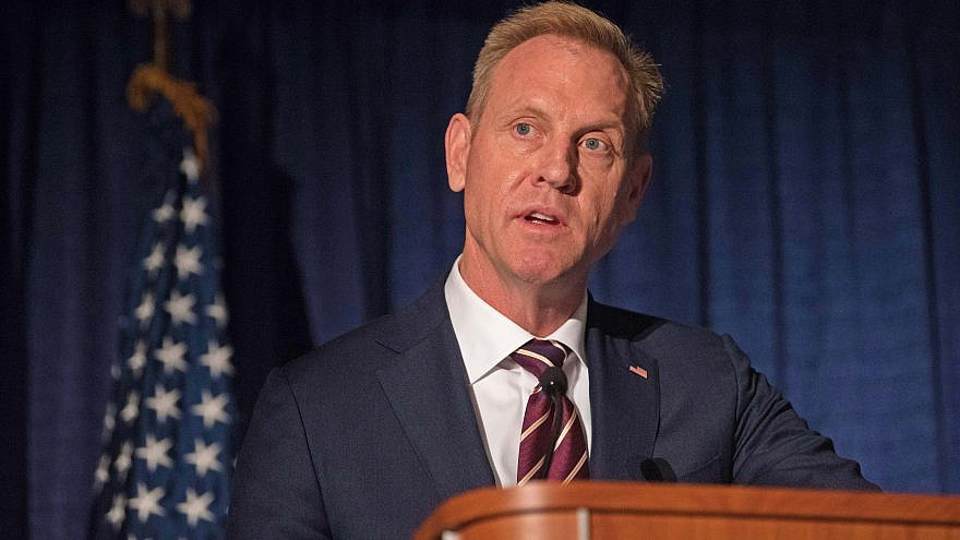 Then-Deputy Defense Secretary Patrick M. Shanahan speaks at the Annual Association of the U.S. Army conference at the Walter E. Washington Convention Center in Washington D.C., on Oct. 10, 2018. Credit: Army Sgt. Amber I. Smith/U.S. Department of Defense.
