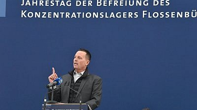U.S. Ambassador to Germany Richard Grenell participates in the 74th anniversary of the liberation of Flossenbürg Concentration Camp on April 14, 2019. Credit: U.S. Embassy in Germany via Flickr.