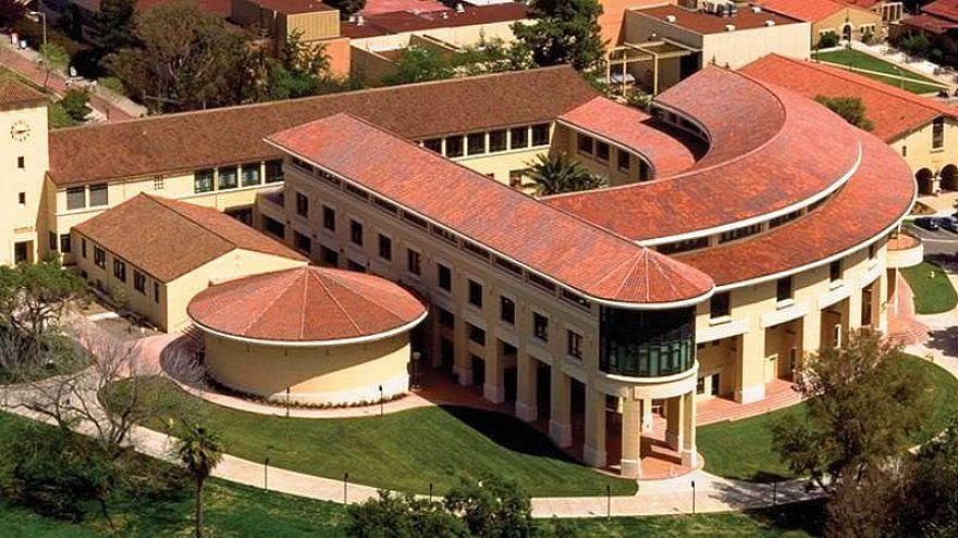 Aerial view of the Orfalea College of Business, and the California Polytechnic State University, Cal Poly SLO campus. Credit: Indefiarch/Wikimedia Commons.