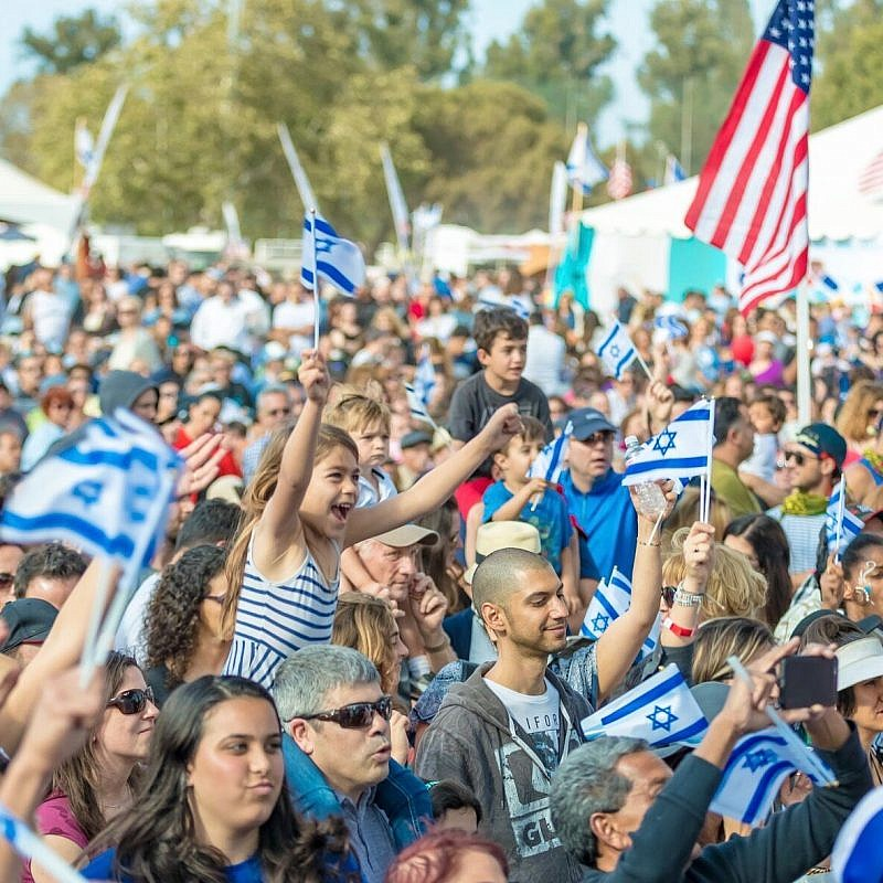 An IAC Celebrate Israel festival in Los Angeles. Credit: Abraham Joseph Pal.