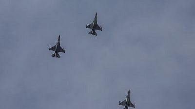 File photo: Israeli warplanes flying towards the Gaza Strip, on May 5, 2019. Credit: Noam Revkin Fenton/Flash90.