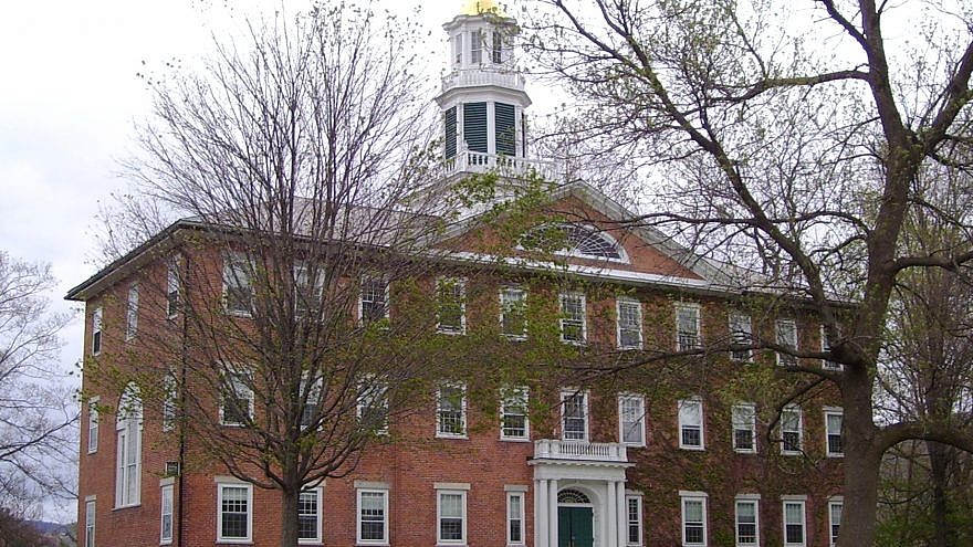 Griffin Hall of Williams College on Main Street in Williamstown, Mass. Credit: Beyond My Ken/Wikimedia.