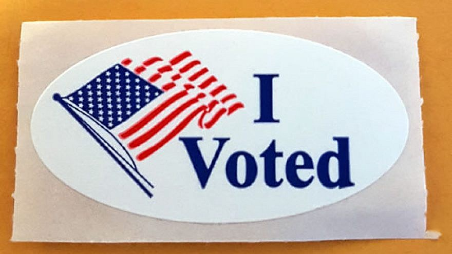 Sticker given after a U.S. citizen votes. Credit: Wikimedia Commons.