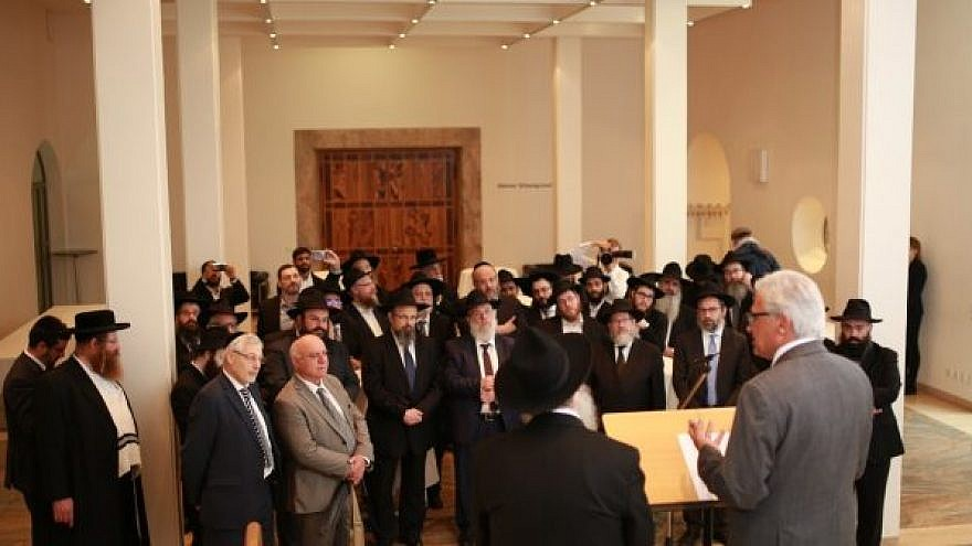 A meeting of rabbis associated with the Rabbinical Centre of Europe, in Ulm, Germany on Tuesday, May 29, 2019. Photo: EJP.