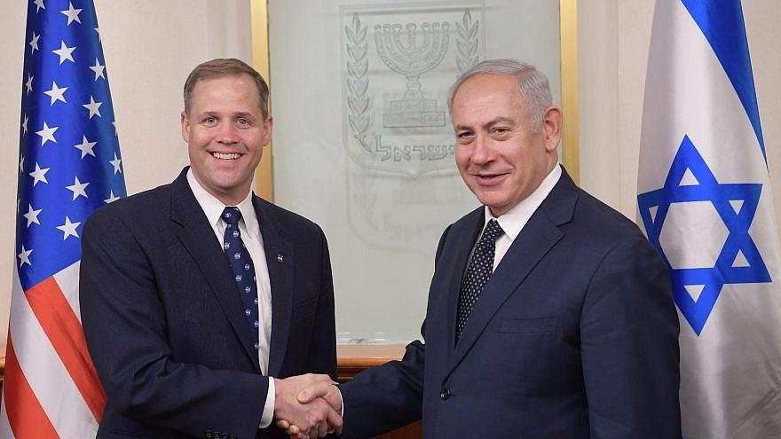 NASA administrator Jim Bridenstine with Israeli Prime Minister Benjamin Netanyahu on July 12, 2018. Credit: Amos Ben-Gershom/GPO.