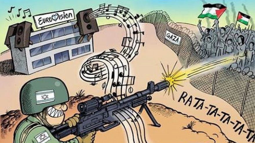 This cartoon appeared on the official Fatah Facebook page on May 19, 2019. (PMW)