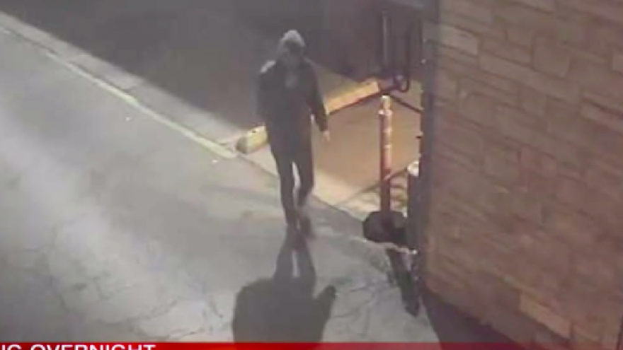 Chicago police are searching for a suspect who allegedly attempted to set fire to Anshe Sholom B'nai Israel Congregation in the Lakeview neighborhood. Credit: Screenshot.