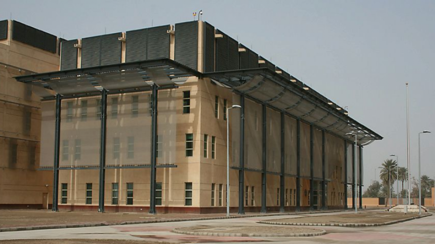 U.S. Embassy in Baghdad. Credit: U.S. Department of State via Wikimedia Commons.