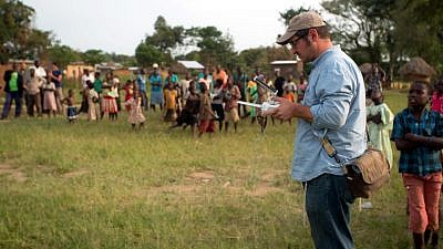 "A still from the film ""Sustainable Nation,"" which highlights Israeli water technology being used in the African country of Uganda. Credit: ""Sustainable Nation."""