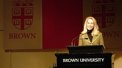 Valerie Plame Wilson speaking at Brown University in Providence, R.I., on Dec. 4, 2007. Credit: Wikimedia Commons.