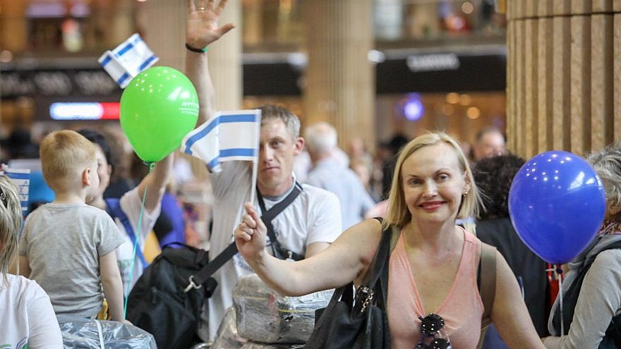 Just a few days before Israeli Independence Day, 220 Jews from Ukraine became new citizens of Israel on May 6, 2019, arriving on three separate flights organized by the International Fellowship of Christians and Jews (Keren L'Yedidut). Photo by Noam Moscowitz.