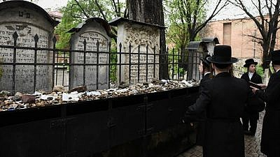 Jewish cemetery in Krakow, Poland. Photo by Yossi Zeliger/Flash90.