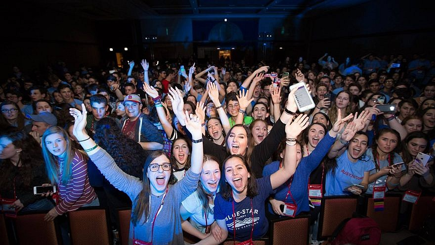 Jewish teens taking part in United Synagogue Youth's International Convention. Credit: United Synagogue Youth via Facebook.