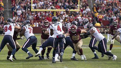 Deshaun Watson and the Houston Texans play against the Washington Redskins on Nov. 18, 2018. Credit: Flickr.