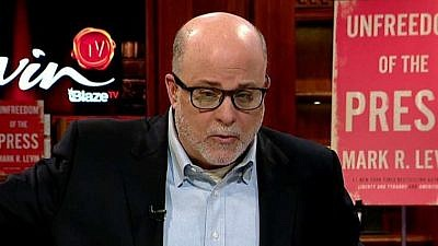 Conservative radio and TV personality Mark Levin on Fox News. Credit: Screenshot.