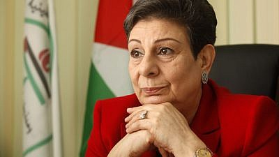Palestinian politician Hanan Ashrawi in her office in the West Bank city of Ramallah. Jan. 31, 2012. Photo by Miriam Alster/Flash90.