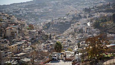 View of the eastern Jerusalem neighborhood of Silwan on December 3, 2017. Photo by Yonatan Sindel/Flash90.