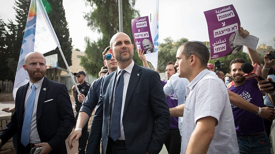 Temporary Minister of Justice and the only gay member of the Likud Party, Amir Ochana, attends the annual Gay Pride Parade in Jerusalem, on June 6, 2019. Credit: Noam Revkin Fenton/Flash90
